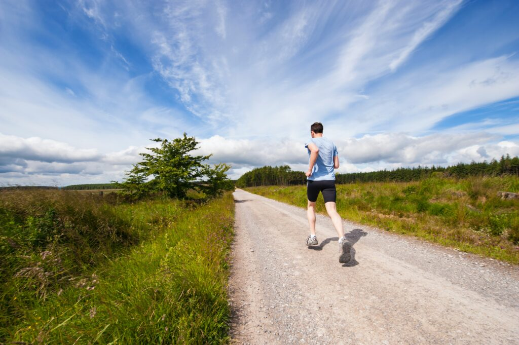 Going for a run might be just what you need after a stressful day.